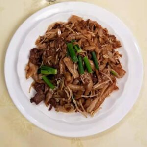 chinese restaurant surrey beef flat rice noodle in soy sauce