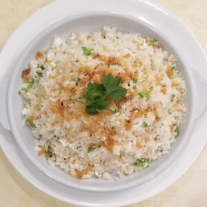 chinese restaurant surrey egg white fried rice with dried scallops